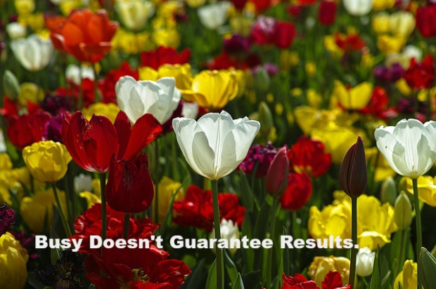 Busy Doesn't Guarantee Results.